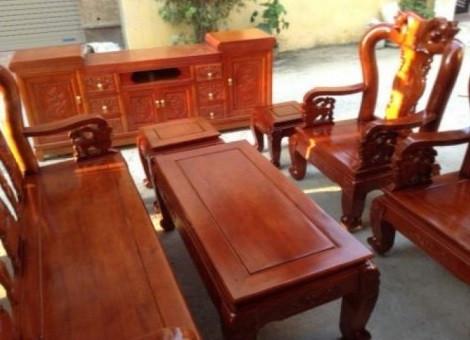 Mẫu bàn ghế phòng khách Minh Quốc Đào gỗ xoan ta(11)