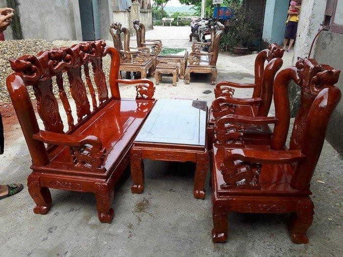 Mẫu bàn ghế phòng khách Minh Quốc Đào gỗ xoan ta(14)