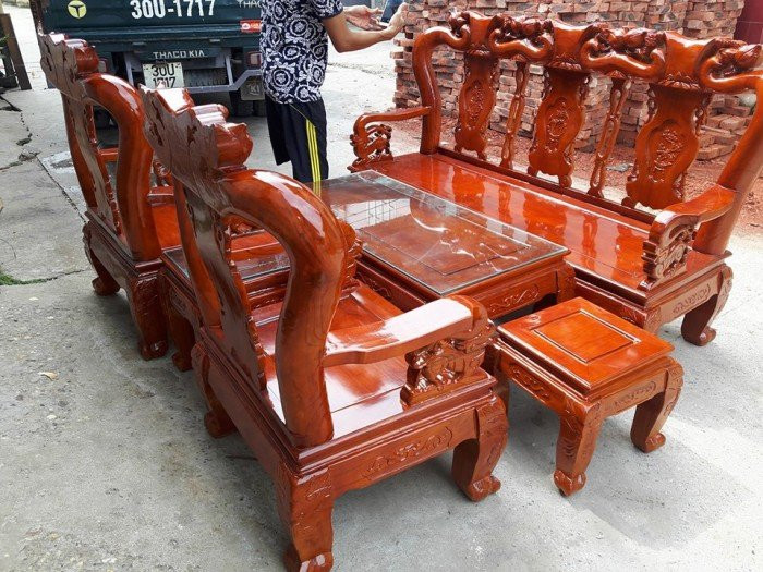 Mẫu bàn ghế phòng khách Minh Quốc Đào gỗ xoan ta(15)
