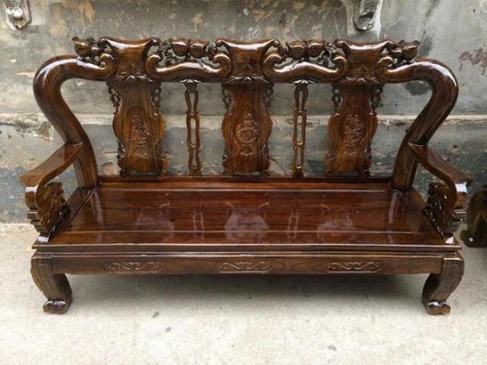Mẫu bàn ghế gỗ phòng khách Minh Quốc tràm PU giả mun(5)