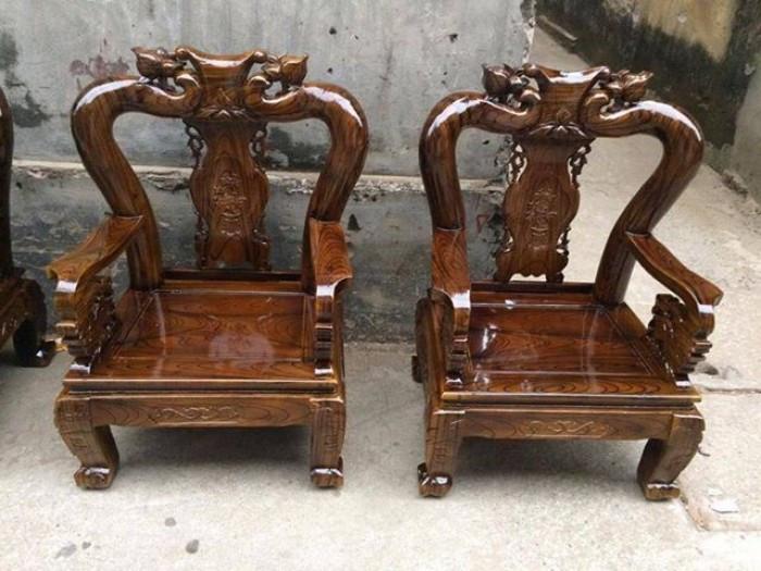 Mẫu bàn ghế gỗ phòng khách Minh Quốc tràm PU giả mun(7)