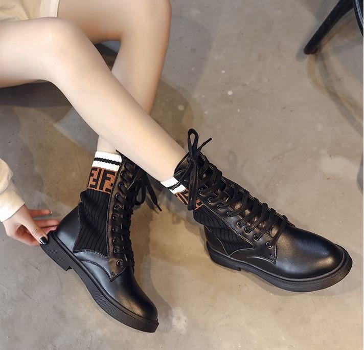 Mua giày bốt da nữ Ulzzang mới nhất 2019 được giảm 50k!