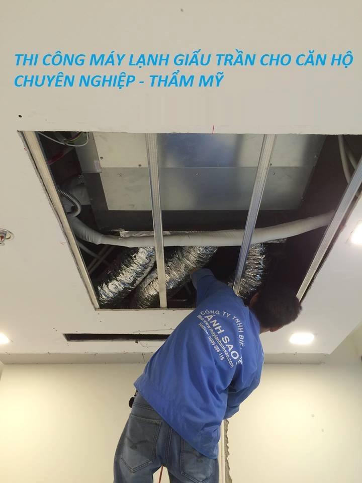 Chuyên nhận thi công máy lạnh âm trần Daikin nối ống gió cho biệt thự, căn hộ sang trọng tại quận 2, quận 7
