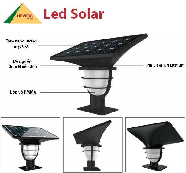 Đèn trụ cổng năng lượng mặt trời – Thiết kế tinh tế và độc đáo