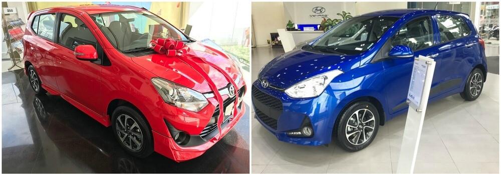 So sánh Toyota Wigo và Hyundai Grand i10 về ngoại thất