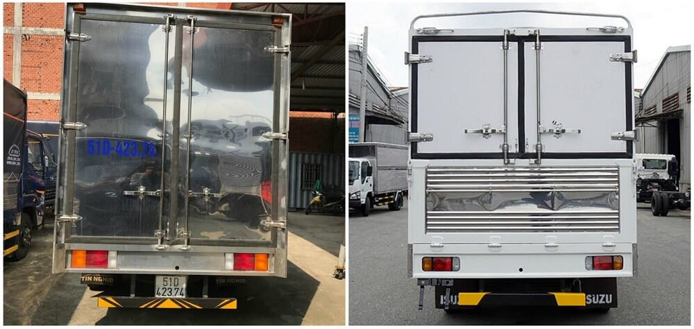 So sánh xe tải Isuzu 1.9 tấn và xe tải Hyundai 1.9 tấn về thiết kế