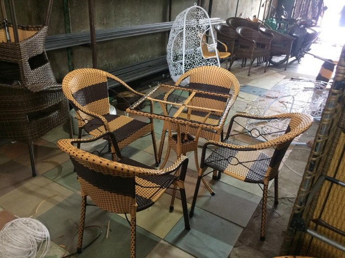 Mẫu bàn ghế giả mây đẹp