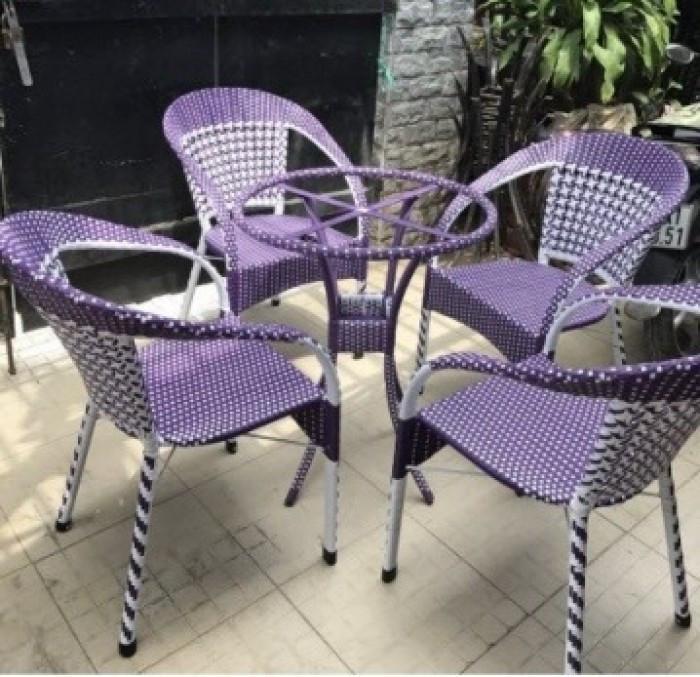 Mẫu bàn ghế giả mây đẹp(3)