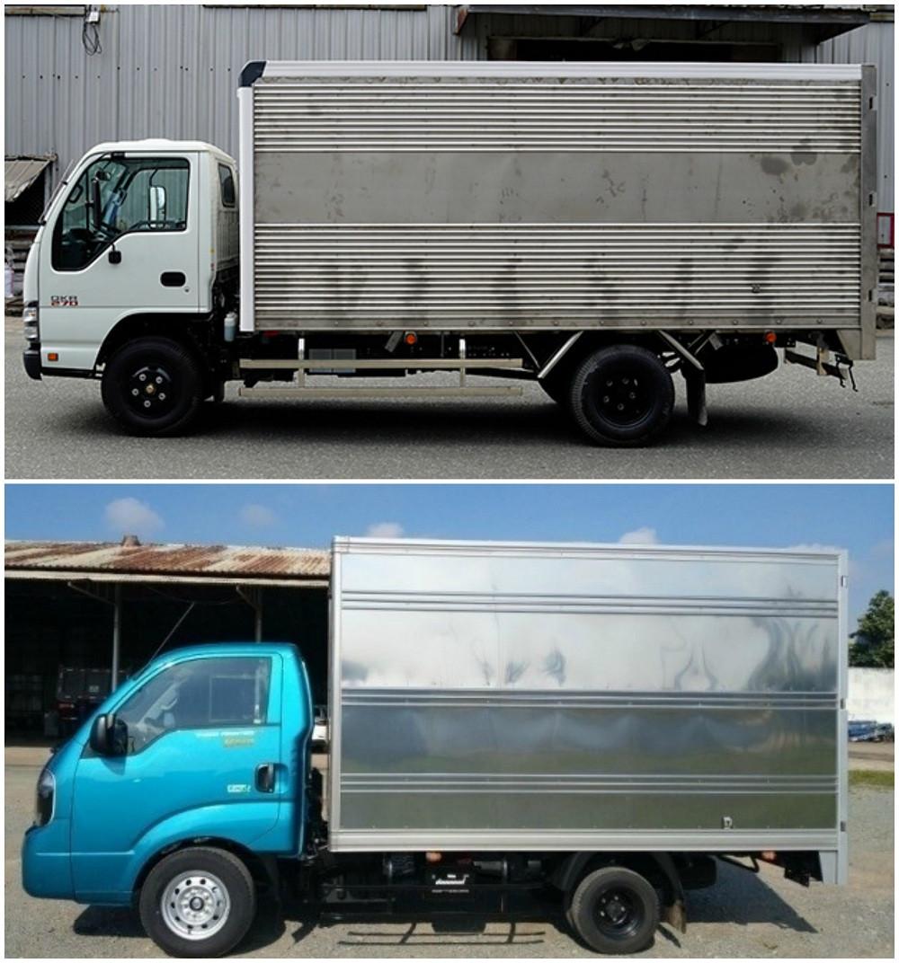 So sánh xe tải Isuzu 1.9 tấn và xe tải Kia 1.9 tấn