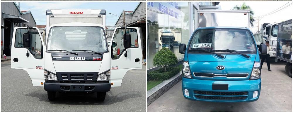 So sánh xe tải Isuzu 1.9 tấn và xe tải Kia 1.9 tấn về thiết kế