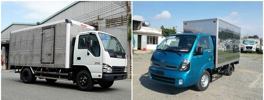 So sánh xe tải Isuzu 1.9 tấn và xe tải Kia 1.9 tấn về thông số kỹ thuật
