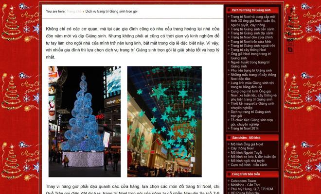 Bùng nổ các dịch vụ trang trí dịp Giáng Sinh 1