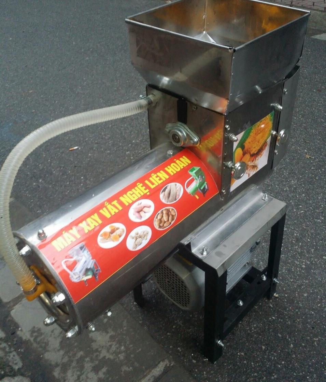 Máy xay vắt tinh bột nghệ INOX công suất 150kg 1h