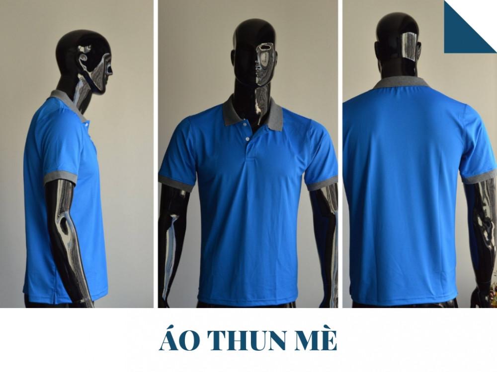 Mẫu áo thun đồng phục công ty màu xanh nước biển - Áo thun mè