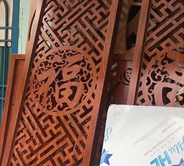 Xưởng nhận gia công cắt cnc trên gỗ hoa văn 2d, 3d giá rẻ HCM