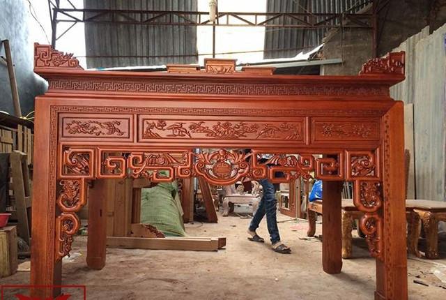 Địa chỉ bán án gian thờ gỗ gụ chạm khắc theo yêu cầu