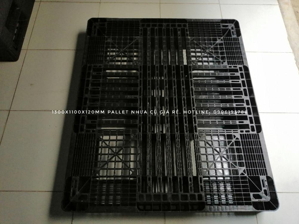 kích thước pallet nhựa cũ 1300x1100x120mm