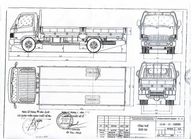 Thông số kỹ thuật xe tải 2.5 tấn Hyundai IZ65 thùng lửng