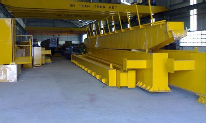 Thiết kế - Sản xuất - Lắp đặt trọn bộ cầu trục dầm đơn, cẩu trục nhà xưởng, cẩu trục cảng, cẩu tháp xây dựng