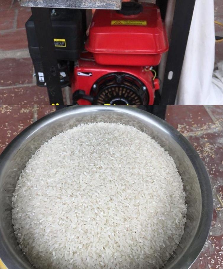 Máy gạo gạo mini, máy xát gạo gia đình chỉ 1 lần sạch vỏ trấu, không bị nát hạt gạo