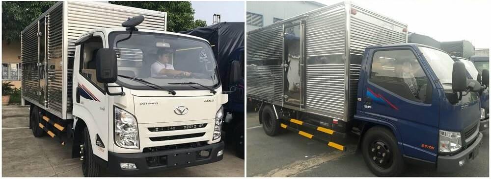 So sánh xe tải 2.5 tấn Hyundai iz49 và Hyundai iz65 về ngoại thất