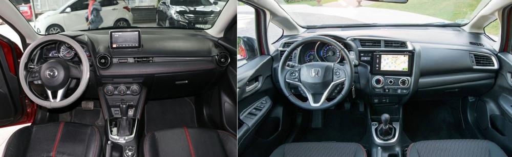 So sánh xe Mazda 2 Hatchback và Honda Jazz 2018 - Nên mua dòng xe nào?