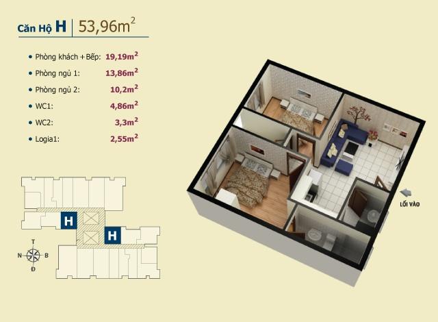 Chung cư giá tốt nhất chỉ có ở Võ Đình Apartment.(4)