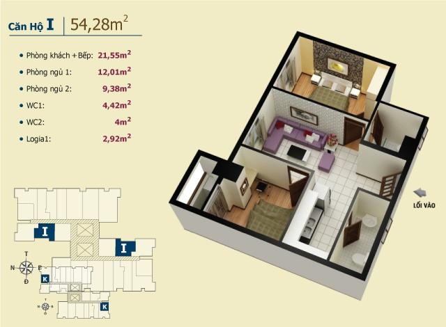 Chung cư giá tốt nhất chỉ có ở Võ Đình Apartment.(6)