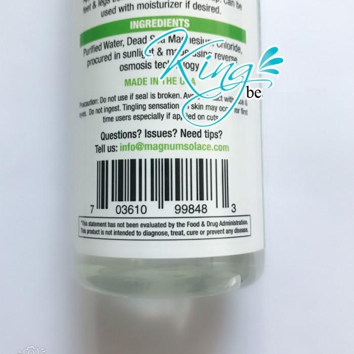 Những công dụng tuyệt vời của dầu Magiê từ muối biển chết - Magnesium Oil Spray(2)