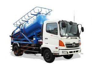 Thông số kỹ thuật xe hút bùn chất thải thông cống phun nước áp lực cao HINO FG 7 khối