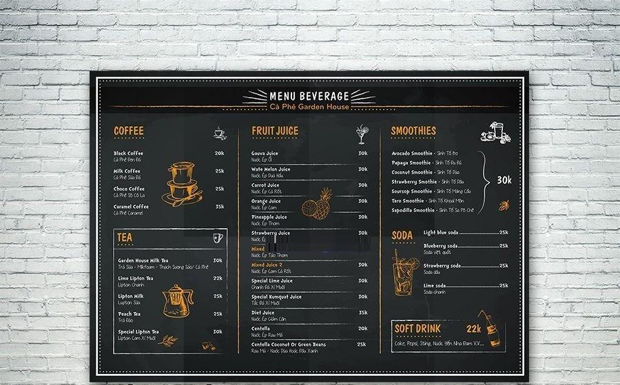 Khung poster cho các quán trà sữa, quán ăn - Với giá rẻ, cam kết chất lượng tốt