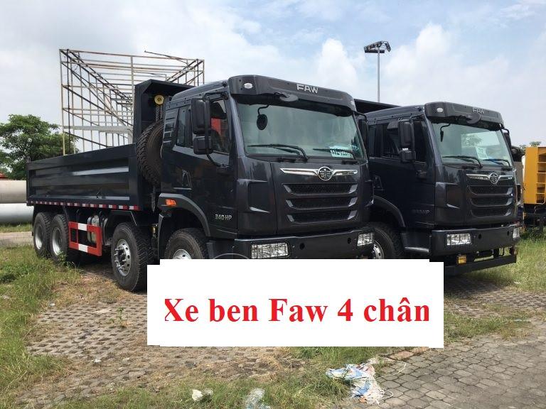 Thông số kỹ thuật xe ben Faw 4 chân 340 thùng thể tích lớn 14.4 khối