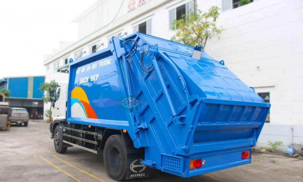 Xe ép cuốn ép rác 15 khối Hino FG8JJ7A - xe ép rác euro 4, 15 khối ga điện giá rẻ(1)