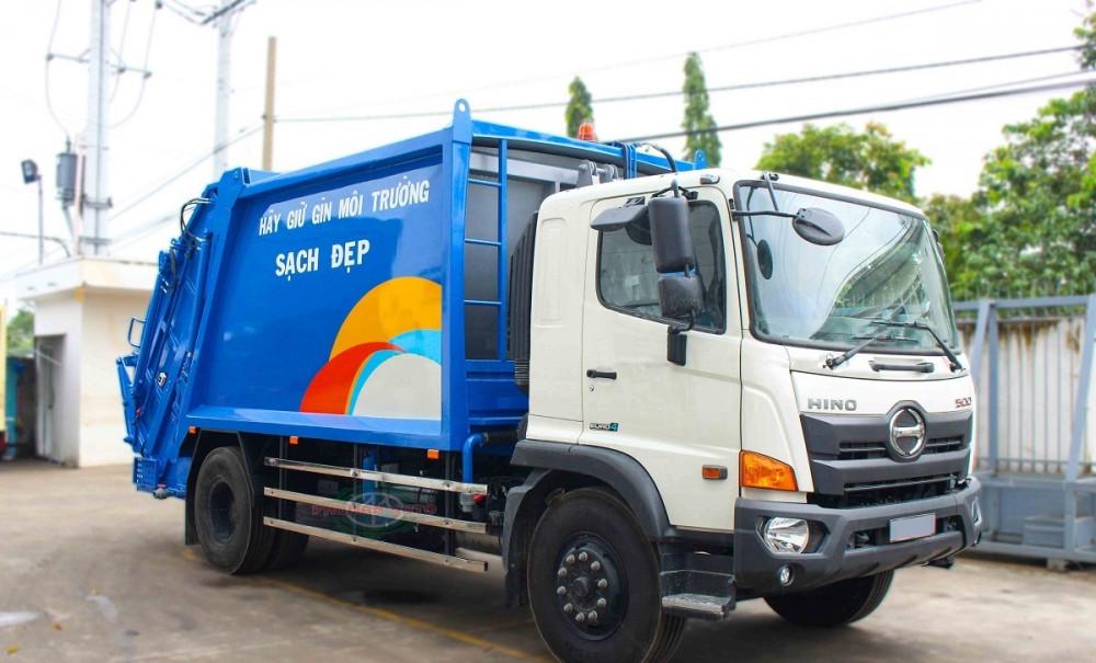 Xe ép cuốn ép rác 15 khối Hino FG8JJ7A - xe ép rác euro 4, 15 khối ga điện giá rẻ(2)