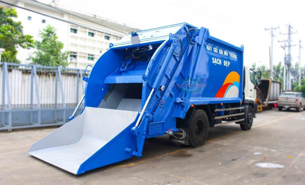 Xe ép cuốn ép rác 15 khối Hino FG8JJ7A - xe ép rác euro 4, 15 khối ga điện giá rẻ(4)