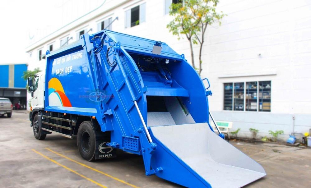 Xe ép cuốn ép rác 15 khối Hino FG8JJ7A - xe ép rác euro 4, 15 khối ga điện giá rẻ(5)