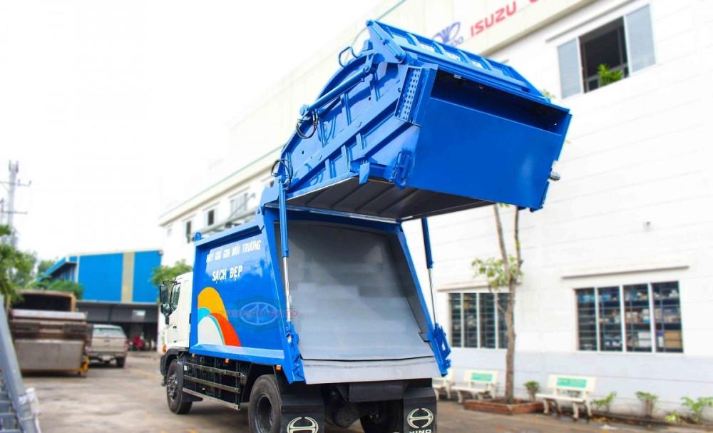 Xe ép cuốn ép rác 15 khối Hino FG8JJ7A - xe ép rác euro 4, 15 khối ga điện giá rẻ(6)