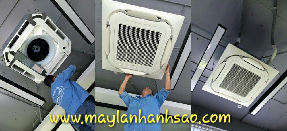 Thi công lắp đặt máy lạnh âm trần Daikin