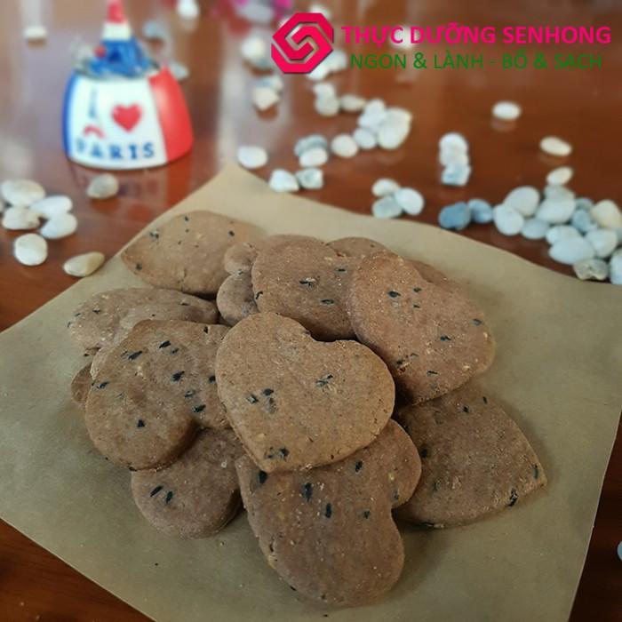 Bánh quy gạo lứt muối mè (500gr)