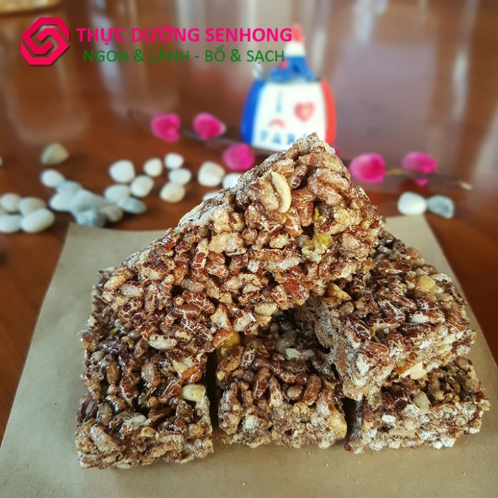 Bánh cốm gạo lứt mè đen (170gr)