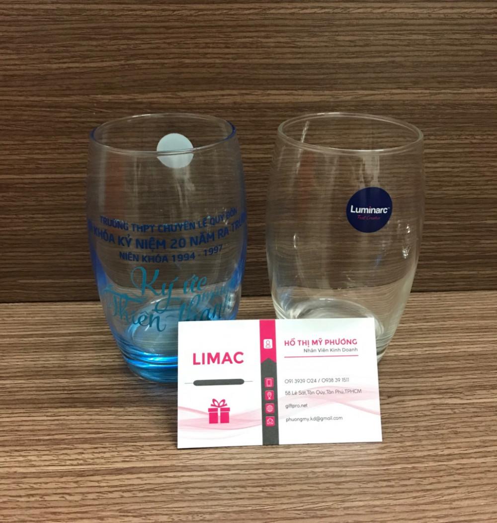 Cung cấp ly thủy tinh in logo giá rẻ theo yêu cầu tại TPHCM