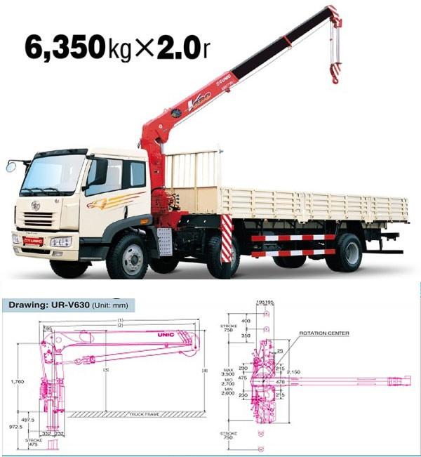 Đánh giá xe tải Hino FG8JPSU gắn cẩu Unic UR-V630K(1)