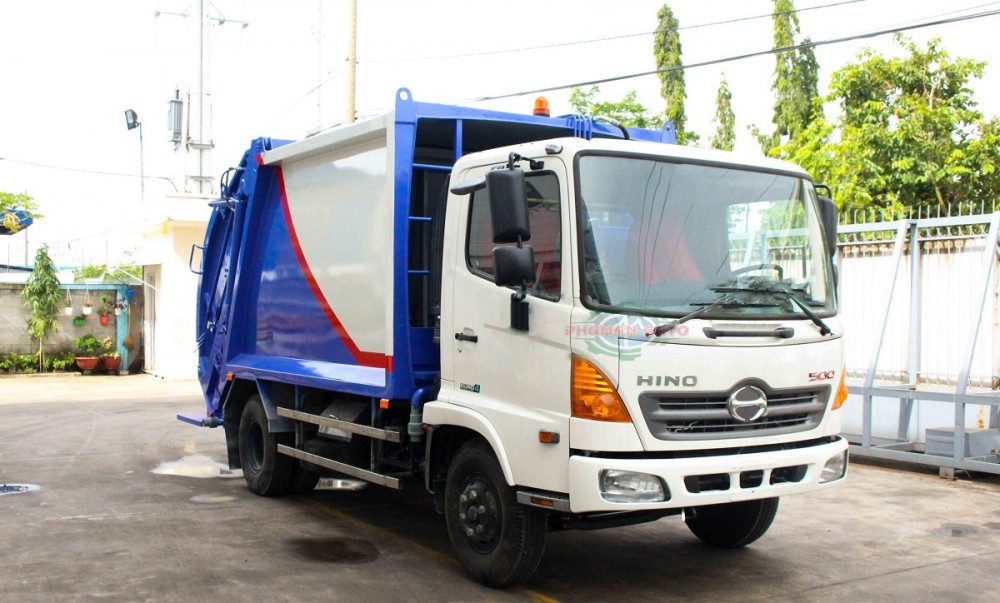Giới thiệu xe cuốn ép rác Hino FC9JETA thùng 9 khối