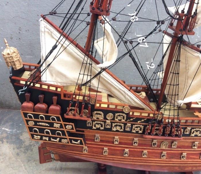 Mô hình thuyền gỗ, tàu chiến cổ Sovereign of The Seas - Món quà tặng phong thủy ý nghĩa(1)