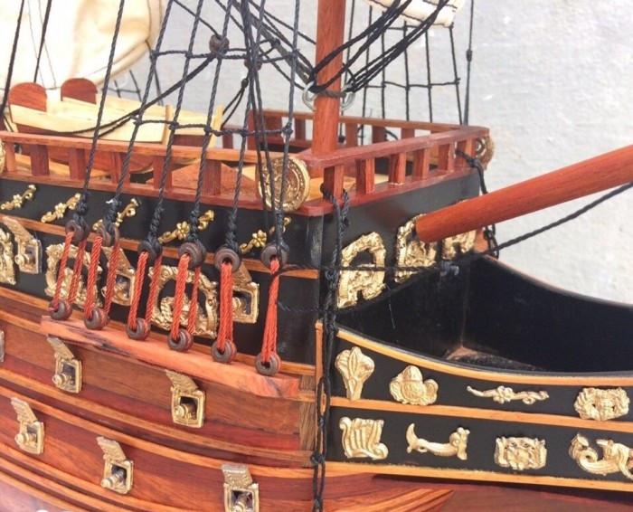 Mô hình thuyền gỗ, tàu chiến cổ Sovereign of The Seas - Món quà tặng phong thủy ý nghĩa(2)