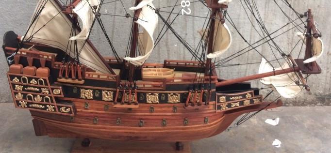 Mô hình thuyền gỗ, tàu chiến cổ Sovereign of The Seas - Món quà tặng phong thủy ý nghĩa(3)