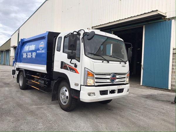 Xe cuốn ép rác Isuzu 12 khối nhập khẩu trực tiếp Hàn Quốc
