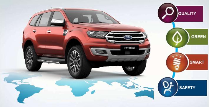 Đánh giá chi tiết Ford Everest 2019 SUV 7 chổ gầm cao
