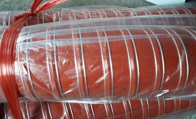 Ống silicone chịu nhiệt độ cao 250 độ màu đỏ, ống gió silicone chịu nhiệt chống cháy