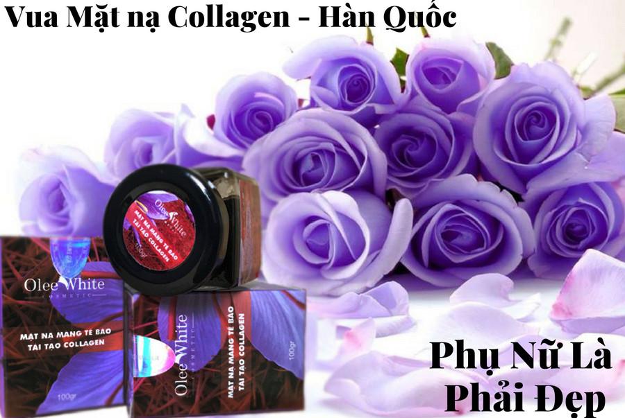 Mặt Nạ Màng Tế Bào Tái Tạo Da Mịn Màng Collagen Olee White